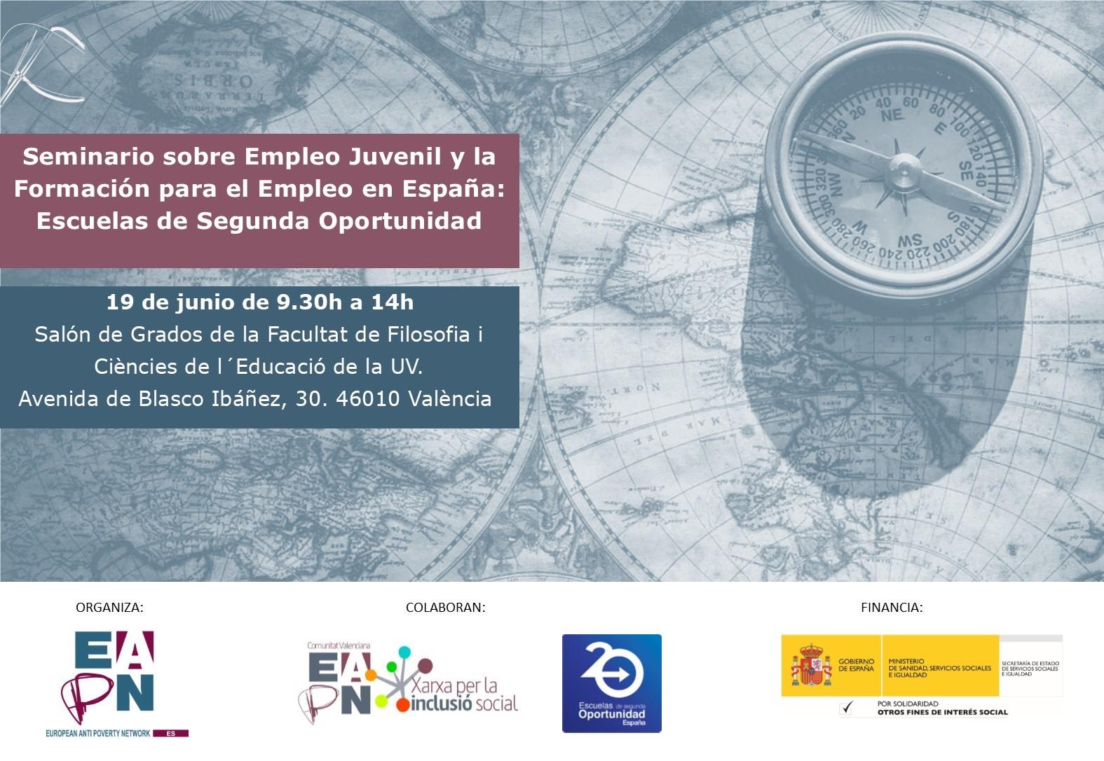 Seminario sobre Empleo Juvenil y la Formación para el Empleo en España: Escuelas de Segunda Oportunidad @ Universitat de Valencia | València | Comunidad Valenciana | España