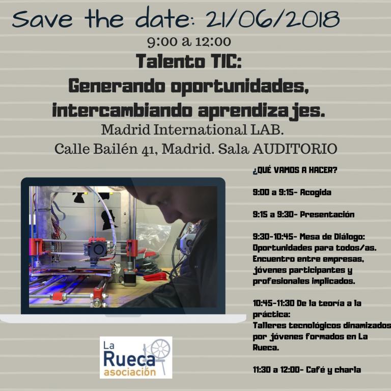 Talento TIC: Generando oportunidades @ International Lab Madrid   Madrid   Comunidad de Madrid   España