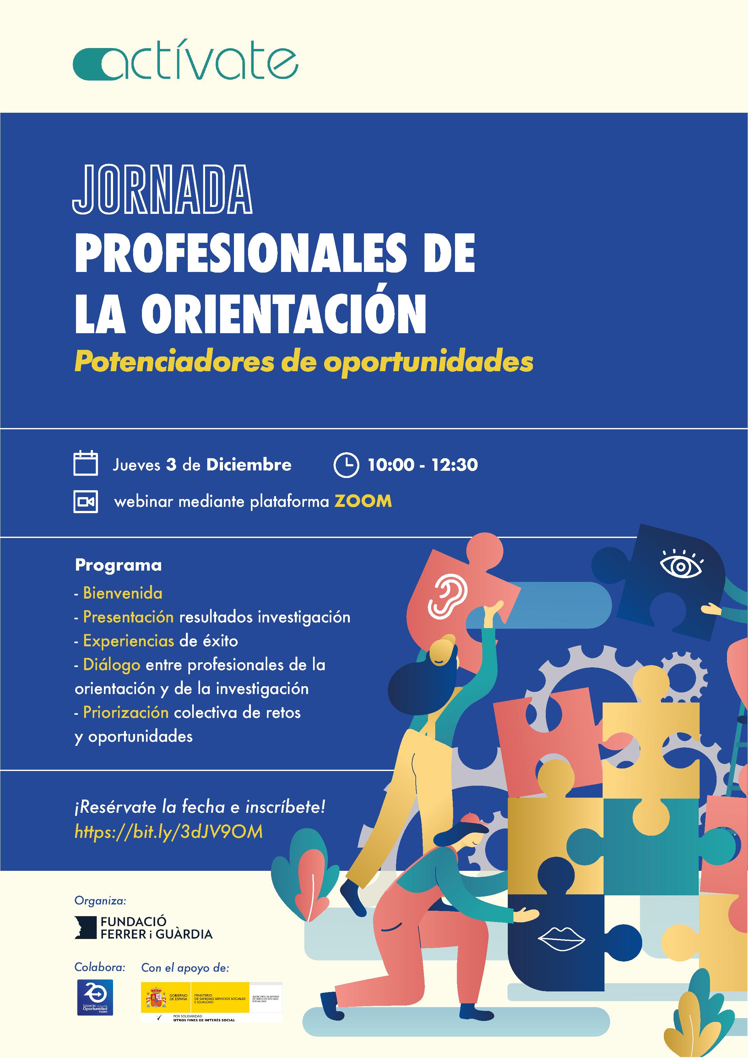 Jornada Actívate 2020: Profesionales de la orientación: potenciadores de oportunidades @ Evento online